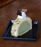 Greentea icecream cake Royalty Free Stock Images