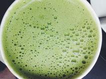 Greentea matcha latte background Royalty Free Stock Images