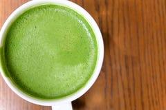 Greentea matcha latte Royalty Free Stock Image