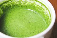 Greentea matcha latte. Close up Greentea matcha latte background Royalty Free Stock Image