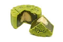 Greentea Mooncake Royalty Free Stock Photography