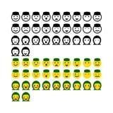 Greentrik ramadhan do emoticon do projeto ilustração stock