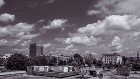 Greenville Carolina Black del sur y blanco Fotos de archivo libres de regalías