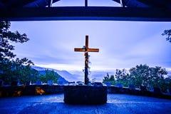 GREENVILLE COUNTY, Sc - 15. Oktober 2016 - Sonnenaufgang an Symmes-Kapelle, Lizenzfreie Stockfotografie