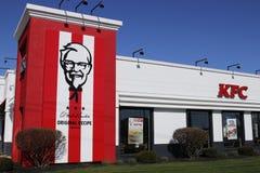 Greenville - Około Kwiecień 2018: Kentucky Fried Chicken handlu detalicznego fasta food lokacja KFC jest filią Yum! Gatunki Ja Zdjęcia Royalty Free