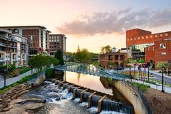 Greenville South Carolina Royalty Free Stock Images