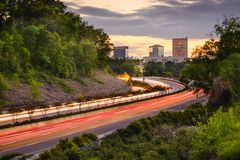 Greenville, South Carolina Highway. Greenville, South Carolina cityscape over Interstate 385 Royalty Free Stock Images