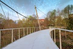 Greenville South Carolina Liberty Pedestrian Bridge Stock Photos