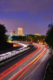 Greenville South Carolina. Greenville, South Carolina skyline above the flow of traffic on Interstate 385 Stock Photos