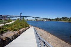 Greenway Bikepath parka Południowy nabrzeże Portland Oregon Zdjęcia Royalty Free