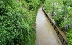Greenway del fiume di Roanoke subacqueo Immagini Stock
