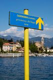Greenway Del Lago Sign Stockfoto