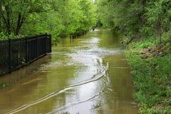 Greenway del río de Roanoke subacuático Fotografía de archivo