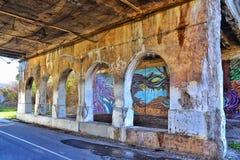 Greenway del taglio di Dequindre a Detroit fotografia stock libera da diritti