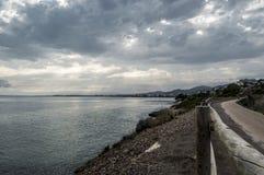 Greenway wzdłuż morza śródziemnomorskiego Obraz Royalty Free