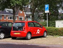 Greenwheels car sharing, the Netherlands. Voorburg, the Netherlands. September 2018. A Greenwheels car sharing and rental car royalty free stock image