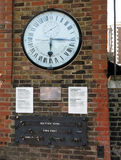Greenwhich Observatory Clock. The Shepherd Gate Clock is Greenwhich Observatory GMT Prime Meridian at Greenwich, England Royalty Free Stock Images