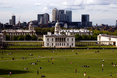 Greenwich. The view from greenwich hill Royalty Free Stock Image