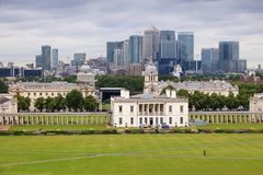 Greenwich and Canary Wharf Royalty Free Stock Photography