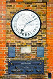 Greenwich clock Royalty Free Stock Images