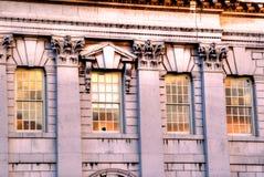 Greenwich för sjö- skola arkitektoniska detaljer Arkivfoton