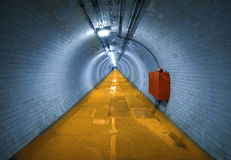 Greenwich Foot Tunnel. That goes under the Thames River, on the south of the river looking towards the north royalty free stock image