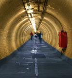 Greenwich Foot Tunnel. That goes under the Thames River, on the south of the river looking towards the north stock photo