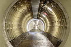 Greenwich Foot Tunnel beneath the River Thames Stock Images