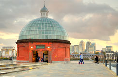 The Greenwich Foot Tunnel, East London Stock Images