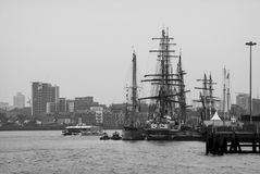 Greenwich högväxt skeppfestival 2014 Arkivbilder