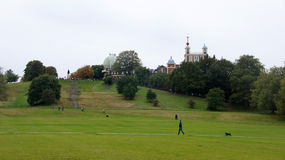 Greenwich hill and Flamsteed House in Greenwich Stock Image