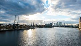 взгляд greenwich london docklands Стоковые Фотографии RF