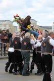 GREENWICH, LONDON, GROSSBRITANNIEN - 13. MÄRZ: Blackheath Morris Männer Tänzer Englisch Ostern am Sonntag, den 13. März 2016 in G Lizenzfreie Stockfotografie