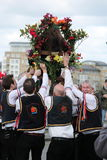 GREENWICH, LONDON, GROSSBRITANNIEN - 13. MÄRZ: Blackheath Morris Männer Tänzer Englisch Ostern am Sonntag, den 13. März 2016 in G Lizenzfreies Stockfoto