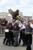 GREENWICH, LONDRES, REINO UNIDO - 13 DE MARZO: Blackheath Morris hombres bailarines inglés Pascua domingo 13 de marzo de 2016 en  Fotografía de archivo libre de regalías