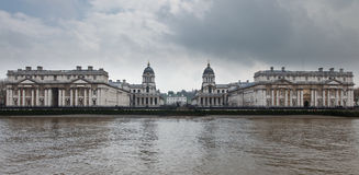 Greenwich Naval College as seen from the River Tha Royalty Free Stock Images
