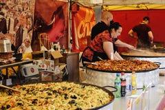 Greenwich Niedziela jedzenia rynek fotografia royalty free