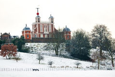 Greenwich observatory in a cold winter day Royalty Free Stock Photo