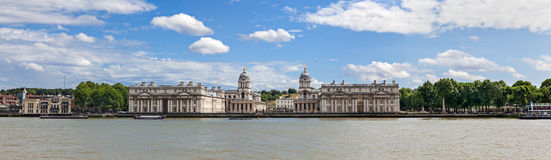 Greenwich panorama Royaltyfria Foton