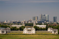 Greenwich Park and Canary Wharf Royalty Free Stock Image