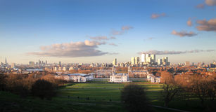 Greenwich park, Canary Wharf  2014 Royalty Free Stock Image