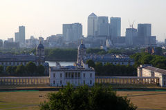 Greenwich Park, Canary Wharf, Wren's Architecture Royalty Free Stock Photos