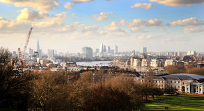 Greenwich park, Royal Navy, Canary Wharf Stock Photography