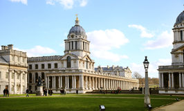 Greenwich park, Royal Navy chapel Royalty Free Stock Photo