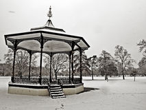 Greenwich park in the snow Stock Photos