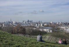 Greenwich park - widok Londyn zdjęcie royalty free