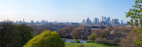 Greenwich parka panorama zdjęcie royalty free
