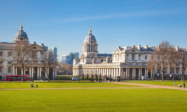 Greenwich royal navy collage. Painted hall and chapel. Royalty Free Stock Images
