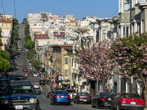 Greenwich Street in San Francisco royalty free stock image