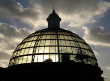 Greenwich Tunnel Dome. The dome of the southern end of the Greenwich Pedestrian Tunnel under the Thames in London Royalty Free Stock Image
